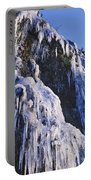 Frozen Waterfall On Oregon Central Coast Portable Battery Charger