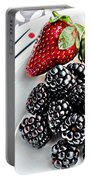 Fruit I - Strawberries - Blackberries Portable Battery Charger