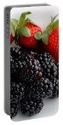 Fruit IIi - Strawberries - Blackberries Portable Battery Charger