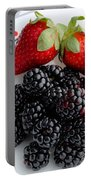 Fruit Iv - Strawberries - Blackberries Portable Battery Charger