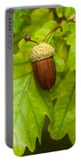 Fruit Of An Oak Tree Ripe In Autumn Portable Battery Charger