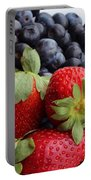 Fruit - Strawberries - Blueberries Portable Battery Charger