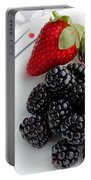 Fruit V - Strawberries - Blackberries Portable Battery Charger