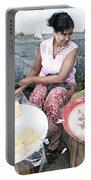 Fruit Vendor On Street Yangon Myanmar Portable Battery Charger
