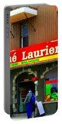 Fruiterie Marche Laurier Butcher Boulangerie De Pain Produits Quebec Market Scenes Carole Spandau  Portable Battery Charger