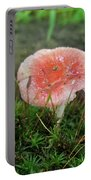 Fruiting Moss And Pink Mushroom Portable Battery Charger