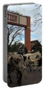 Ft Worth Trail Ride At Ft Worth Stockyard Portable Battery Charger