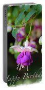 Fuchsia Birthday Card Portable Battery Charger