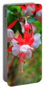 Fuchsia Blooms With Scripture Portable Battery Charger