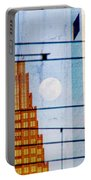 Full Moon In The City Portable Battery Charger