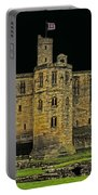 Full Moon Over Medieval Ruins Portable Battery Charger