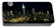Full Moon Rising - New York City Portable Battery Charger