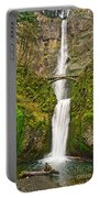 Full View Of Multnomah Falls In The Columbia River Gorge Of Oregon Portable Battery Charger