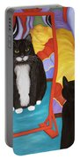 Fun House Fat Cat Portable Battery Charger