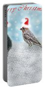 Fun Merry Christmas Card Portable Battery Charger