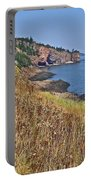 Fundy Bay Coastline Near Cliffs Of Cape D'or-ns Portable Battery Charger