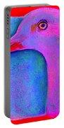 Funky Demoiselle Crane Bird Art Prints Portable Battery Charger
