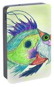 Funky Fish Art - By Sharon Cummings Portable Battery Charger