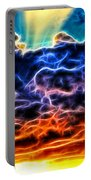 Funky Glowing Electrified Rainbow Clouds Abstract Portable Battery Charger
