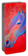 Funky Handsome Horse Blue Portable Battery Charger