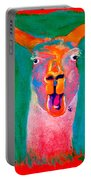 Funky Llama Art Print Portable Battery Charger
