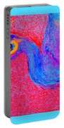 Funky Peacock Bird Art Prints Portable Battery Charger