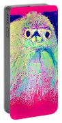 Funky Snowy Egret Bird Art Prints Portable Battery Charger