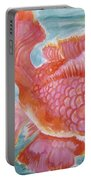 Fuschia Goldfish Portable Battery Charger