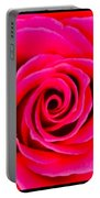 Fuschia Pink Rose 2  Portable Battery Charger