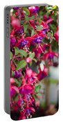 Fuchsia Spilling Over  Portable Battery Charger