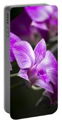 Fushia Orchid Portable Battery Charger