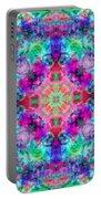 Fushia Rainbow Mandala Portable Battery Charger