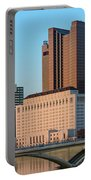 Fx1l922 Columbus Ohio Skyline Photo Portable Battery Charger