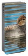 Gadwall Duck Drake Swimming Portable Battery Charger