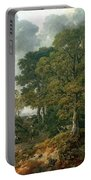 Gainsboroughs Forest Cornard Wood, C.1748 Oil On Canvas Portable Battery Charger