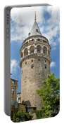 Galata Tower Landmark In Istanbul Turkey Portable Battery Charger