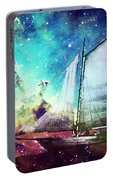 Galileo's Dream - Schooner Art By Sharon Cummings Portable Battery Charger
