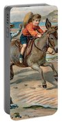 Galloping Donkey At The Beach Portable Battery Charger