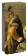 Gamblers In The Foyer Portable Battery Charger by Johann Heinrich Tischbein