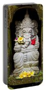 Ganesh Hindu God Statue In Bali Indonesia Portable Battery Charger