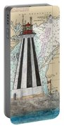 Gannet Rock Lighthouse New Brunswick Canada Nautical Chart Art Portable Battery Charger