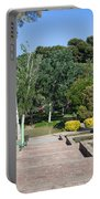 Garden At Montjuic In Barcelona Portable Battery Charger