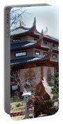 Garden At The Temple In Grand Prairie Texas Portable Battery Charger