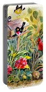 Garden Birds Portable Battery Charger