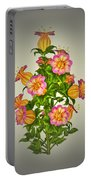Garden Flowers 6 Portable Battery Charger