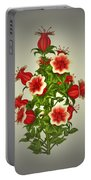 Garden Flowers 8 Portable Battery Charger