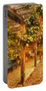 Garden Flowers With Bench Photo Art 01 Portable Battery Charger