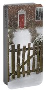 Garden Gate In Snow Portable Battery Charger