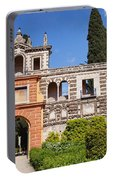 Garden In Alcazar Palace Of Seville Portable Battery Charger