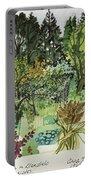 Garden In Llandielo, 1999 Watercolour On Paper Portable Battery Charger